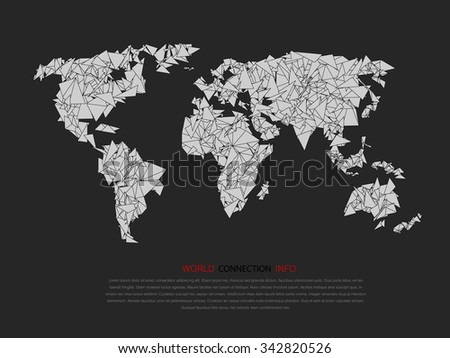 Modern elements of info graphics. World Map. - stock vector