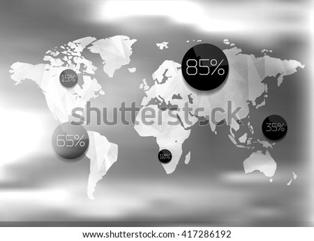Modern elements of info graphics. World Map  - stock vector