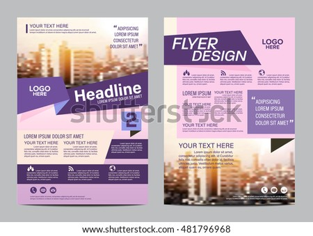 Modern Flat Brochure Layout Design Template Stock Vector 481796968