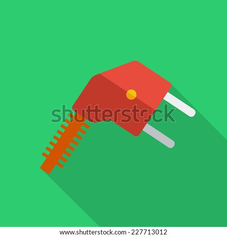 Modern flat design concept icon electrical plug . Vector illustration. - stock vector