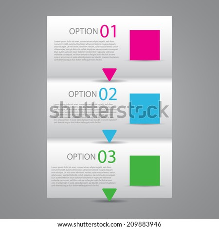 Modern Flat Design Template / numbered banners. - stock vector
