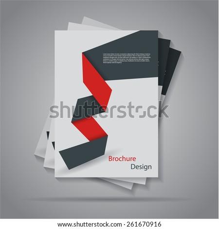 Modern flat origami paper brochure/ flyer design, eps10 Vector.  - stock vector