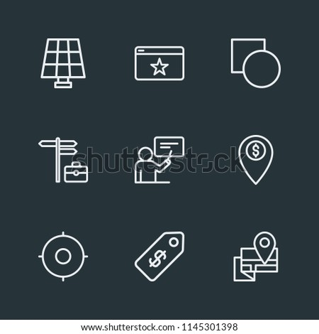 Modern Flat Simple Vector Icon Set Stock Vector - Solar location map