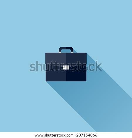 Modern flat vector icon of briefcase - stock vector