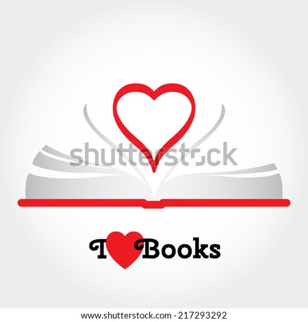 Modern flat vector illustration with place for text. Layered file. Love to read.   - stock vector