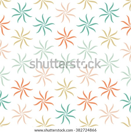 Modern Flower geometric pattern. Repeating curve pattern design. Abstract Flower background, can be used for wallpaper, cover fills, web page background, surface textures. Geometric simple print. - stock vector