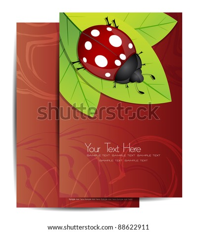 modern flyer/cover design with lady bug - stock vector