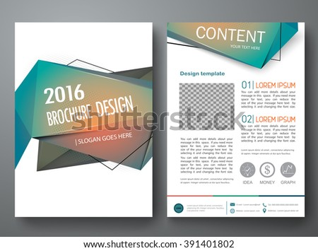 modern brochure design templates - yuttapholstocker 39 s brochure cover book flyers set on