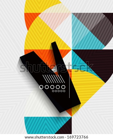 Modern funky geometric abstraction - stock vector