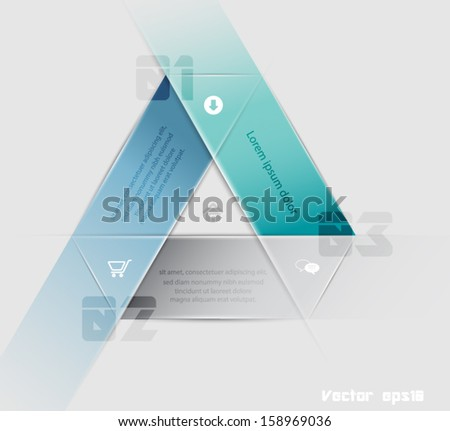 Modern futuristic style infographic template / can be used for infographics , numbered banners , horizontal cutout lines or website layout. Vector  eps10.  - stock vector