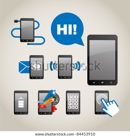Modern gadgets icon collection - stock vector