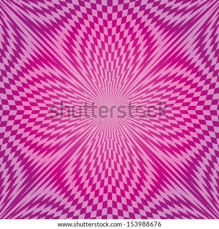 Modern geometric abstract background as stylized flower