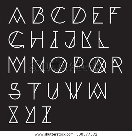 Modern geometric alphabet - stock vector