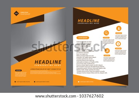 Modern Geometric Brochure Flyer Template Stock Vector Hd Royalty
