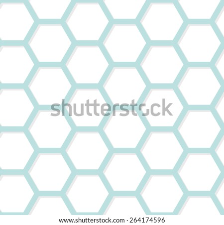 Modern geometric hexagonal background. Vector abstract simple pattern EPS8 - stock vector