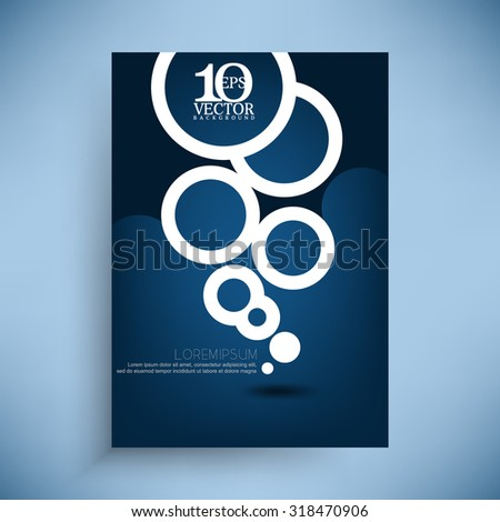 modern geometric round circle elements business brochure leaflet illustration - stock vector