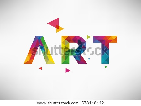 Modern Geometric Vector Design Art Word Stock Vector 578148442 ...