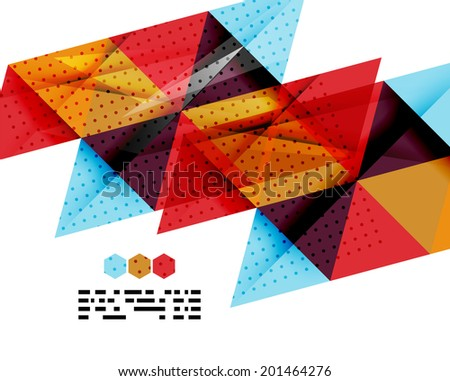 Modern geometrical abstract template on white. Business transparent shapes with copy space - stock vector