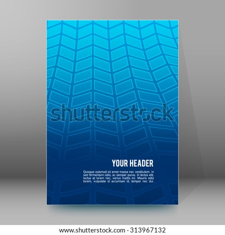 Modern geometrical blue background of bright glowing perspective with squares. Gorgeous graphic image template. Abstract vector illustration EPS 10 for backdrop your business card, layout leaflet - stock vector