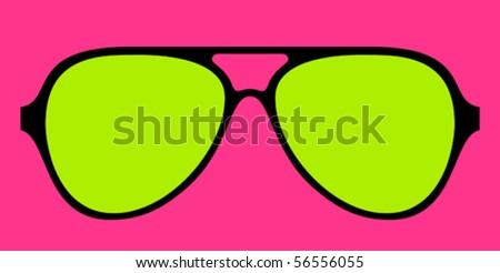 modern glasses frame in bright colours - stock vector