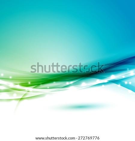 Modern glittering smooth speed swoosh background. Vector illustration - stock vector