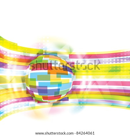 Modern global conceptual background / eps10 - stock vector