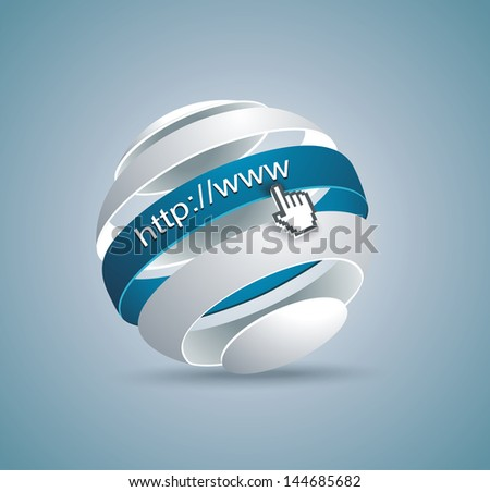 Modern globe connections network design; vector illustration - stock vector