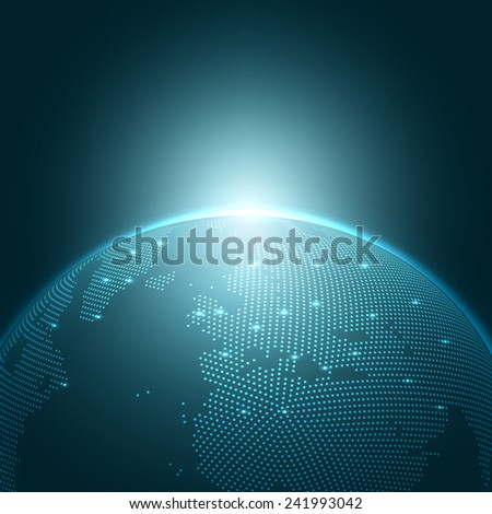 Modern Globe Vector Illustration | EPS10 Background - stock vector