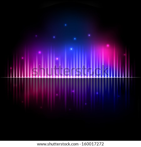 Modern glowing equalizer - stock vector