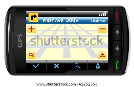 Modern GPS - stock vector