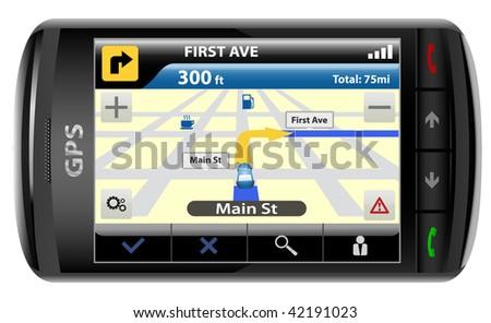 Modern GPS,  vector illustration - stock vector