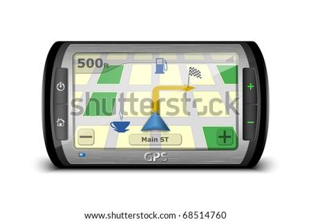 Modern GPS. Vector Illustration - stock vector