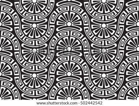 modern greek  trendy seamless pattern