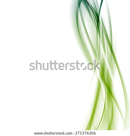 Modern green abstract line background template vertical certificate layout. Vector illustration - stock vector