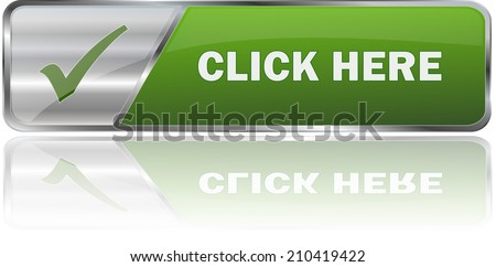 modern green click here sign - stock vector