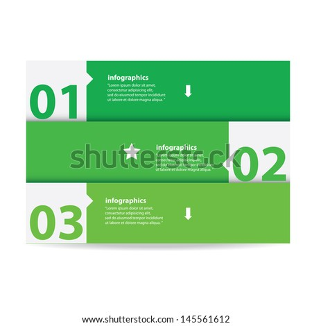 Modern green Design template / can be used for infographics / numbered banners / graphic or website layout vector