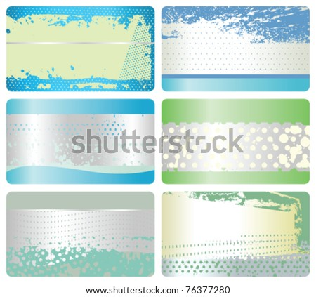 Modern grunge cards set two - stock vector