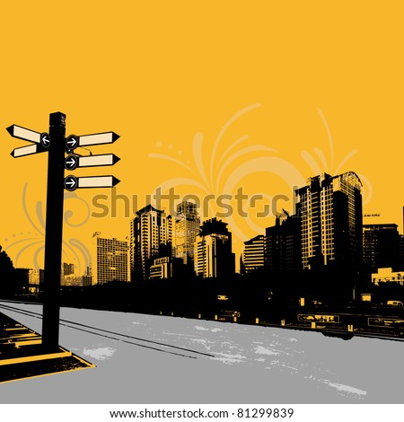 modern grunge urban graphic design - stock vector