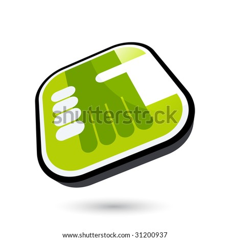 modern handshake symbol - stock vector