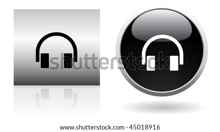 modern headphone buttons