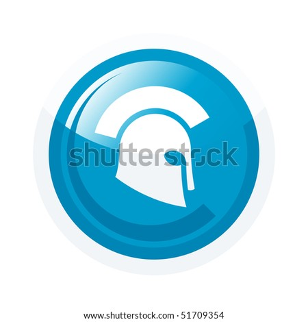 modern helmet sign - stock vector