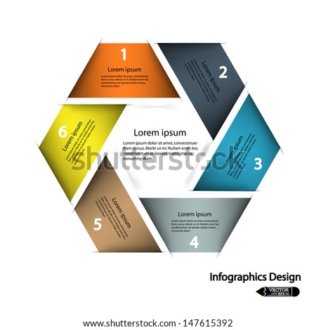 modern hexagon infographics options banner,vector illustration. can be used for work flow layout, diagram, number options, web design. - stock vector