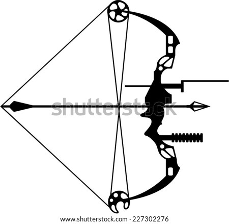 Hunting With Bow And Arrow Drawing Modern Hunting Bow And Arrow