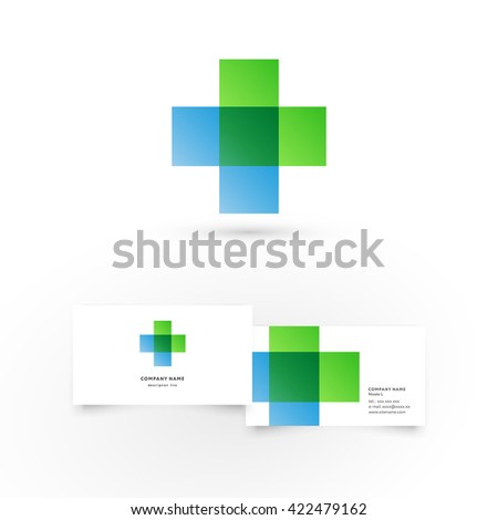 Modern icon design logo element with business card template. Best for identity and logotypes.  - stock vector
