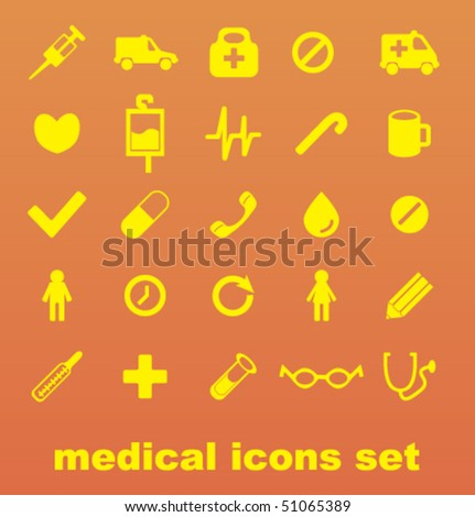 Modern icons set - stock vector