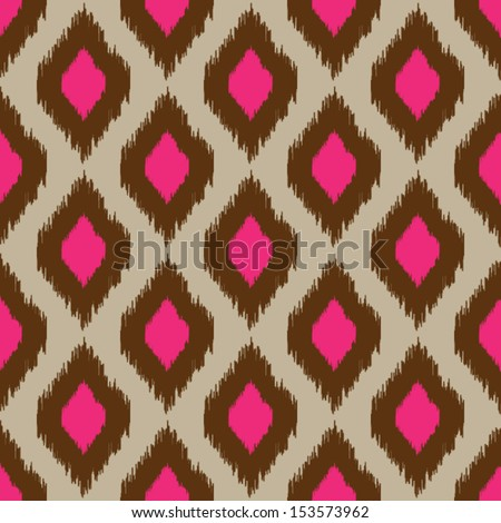 Modern ikat seamless pattern for web or home decor - stock vector