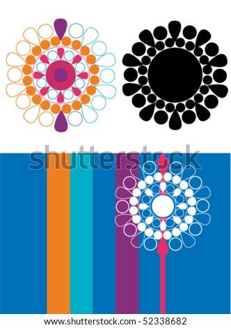Modern illustration of flowers. - stock vector