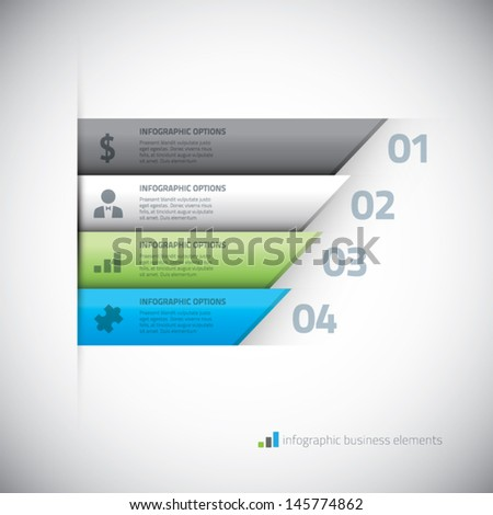 Modern infographic business elements vector eps10 illustration - stock vector
