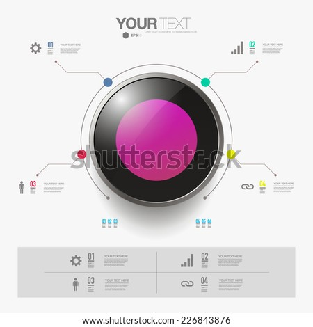 Modern infographic design with 3D object can be used for workflow layout, chart, number options, presentation, web design. Eps 10 stock vector illustration  - stock vector