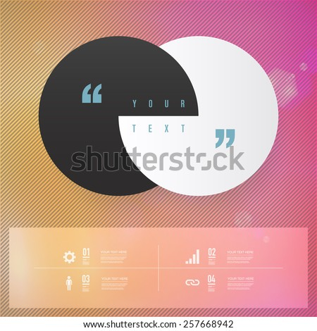 Modern infographic design with stripes background can be used for workflow layout, chart, number options, presentation, web design. Eps 10 stock vector illustration  - stock vector